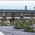 Plas Newydd drawing by Mike Brown
